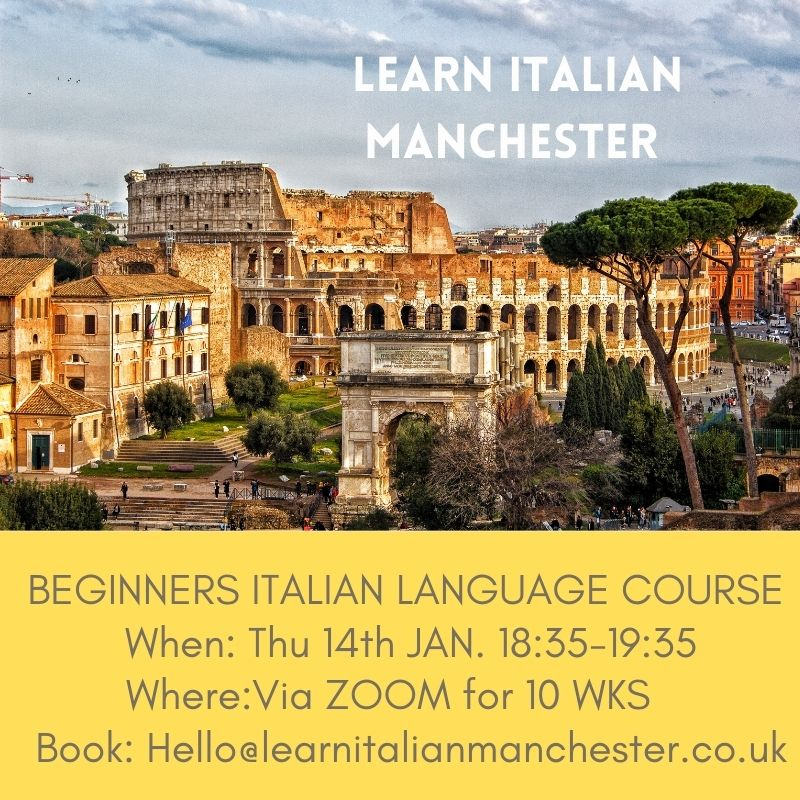 LEARN ITALIAN MANCHESTER NEW COURSE JAN 2021